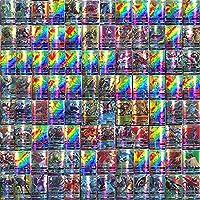 100-Delige Pokemon-Kaartenset, Gecoat Papier, Cartoon Game Card GX-Ruilkaarten voor Kinderen met 95 GX Pokemon-Kaarten...