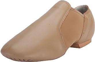 Linodes Leather Jazz Shoe Slip On for Girls and Boys (Toddler/Little Kid/Big Kid)