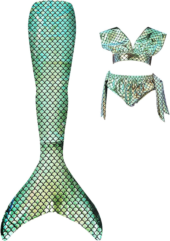Mermaid Tail for Girls Swimsuit Princess Halloween Cosplay Pool