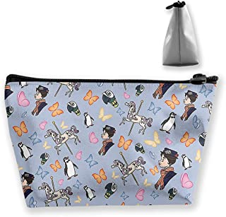 HHFASN Mary Poppins Pattern Portable Travel Cosmetic Bags Fashion Cosmetic and Toiletries Organizer Bag Large Capacity Pencil Case