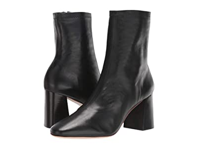 Loeffler Randall Elise Slim Ankle Bootie (Black Stretch Nappa) Women