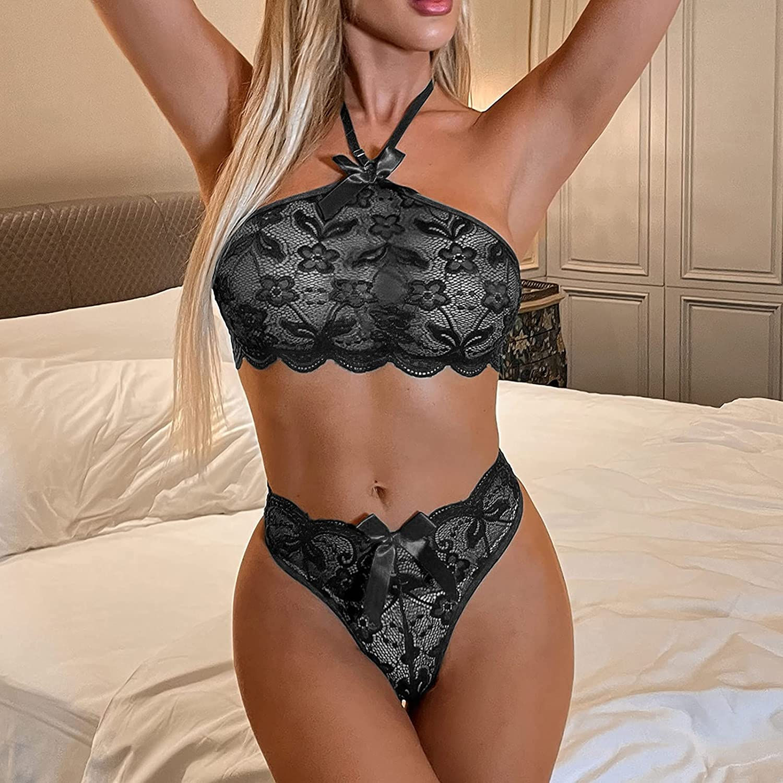xoxing Women's Lingerie Plus Size Sleepwear Sexy Intimates Underwear Pajamas Chemise Halter Nightwear Tank Tops (Z)