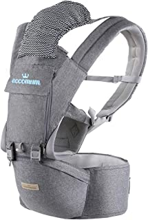 Baby Carrier, Eccomum Multifunction Baby Carrier Hip Seat (Ergonomic M Position) for 3-36 Month Baby, 6-in-1 Ways to Carry...