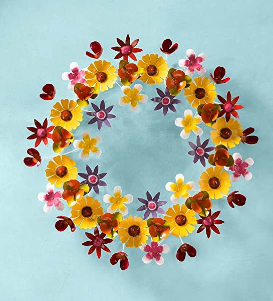 Spring Flowers Metal Wreath 23 Dia X 3 50 D