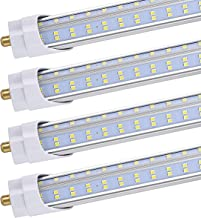 (20-Pack),BESTKA T8/T10/T12 8ft LED Tube Light,8ft Single Pin FA8 Base, 120W 13000LM, 6000K Cool White, 8 Foot Double Side V Shape LED Fluorescent Bulbs (150W Replacement), Clear Cover,Ballast Bypass