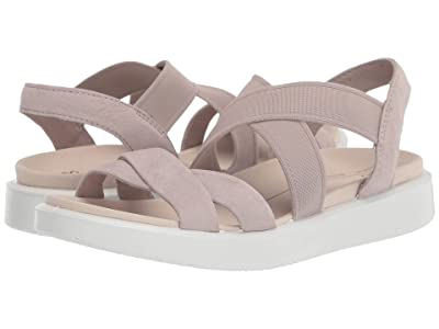 ECCO Flowt Elastic Sandal (Grey Rose Cow Nubuck) Women