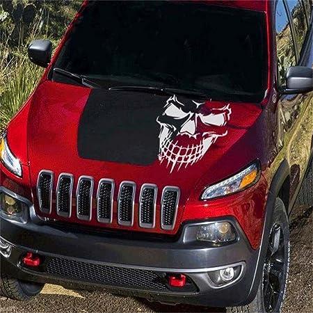 Car Window Tailgate Black Skull Skeleton Hood Decal Rear Vinyl Side Door Sticker