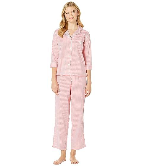 3c935def054 LAUREN Ralph Lauren 3/4 Sleeve Pointed Notch Collar Pajama Set at ...