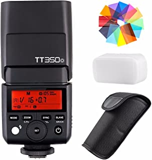 Godox TT350O 2.4G HSS 1/8000s TTL GN36kamera flaş Speedlite Olympus/Panasonic kompakt sistem fotoğraf makineleri için Eachshot renk filtresi