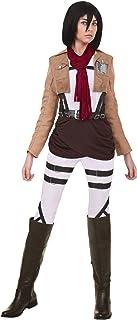 Attack on Titan Mikasa Costume Women's Cosplay Mikasa Outfit