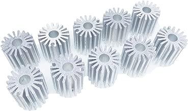 10pcs OD 20 x H 21mm 1W Watt LED Aluminium Heatsink long Round Cooling