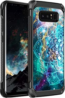 BENTOBEN Galaxy Note 8 Case, Slim 2 in 1 Hybrid Hard PC Soft TPU Glow in The Dark Luminous Noctilucent Shockproof Dual Layer Protective Phone Cases Cover for Samsung Galaxy Note 8, Mandala in Galaxy