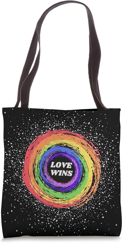 Cute Love-Wins Rainbow LGBTQ+ Lesbian-Gay Pride Month 2021 Tote Bag