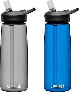 CamelBak eddy+ BPA Free Water Bottle 25 oz, 2-Pack, Charcoal / Oxford
