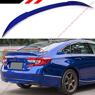 Cuztom Tuning Fits for 2018-2019 Honda Accord JDM Akasaka Style Flush Fit Trunk Lid Spoiler-Painted Still Night Pearl Blue Finish