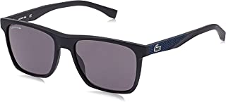 Lacoste Men's Sunglasses Rectangular La Sport Inspired Black Matte