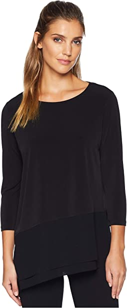 3/4 Sleeve Asymmetrical Hem Top