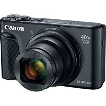 Canon PowerShot SX740 Digital Camera w/40x Optical Zoom & 3 Inch Tilt LCD - 4K VIdeo, Wi-Fi, NFC, Bluetooth Enabled (Black)