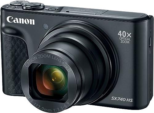 CANON 7549 Câmera Digital Powershot, Sx740 Hs, Preta