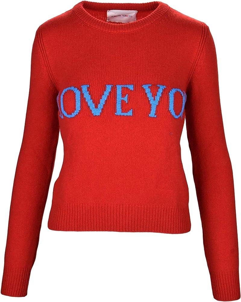 Alberta ferretti love you,maglione,pullover per donna,70% lana, 30% cachemire ALBERTA FERRETTI J0940 Love Yo