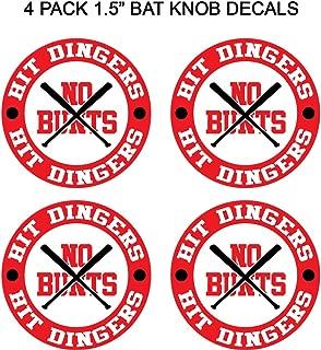 Baseball Bat Knob Decal Sticker No Bunts Hit Dingers