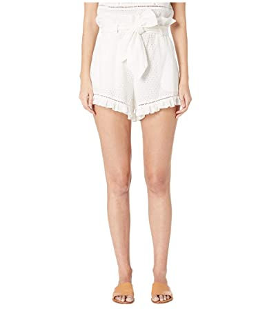 Jonathan Simkhai Embroidered Ruffle Shorts (White) Women