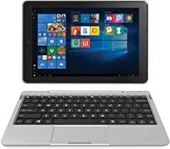 "RCA Cambio 10.1"" (2-in-1) Windows 10 Touchscreen Tablet/Notebook - Detachable Keyboard & Dual Camera - 32GB Storage , Bluetooth (W101-CS, Silver) (Renewed)"