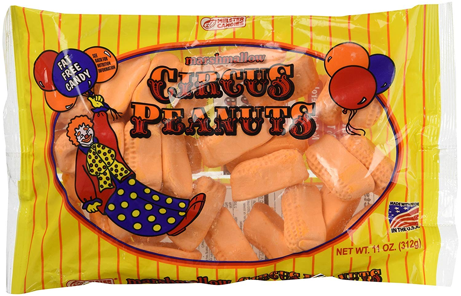 Melster Marshmallow Circus Peanuts 11 Pack 3 oz Max 88% Tampa Mall OFF Bags