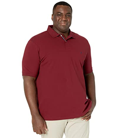 Nautica Big & Tall Big Tall Short Sleeve Solid Deck Shirt (Zinfandel) Men