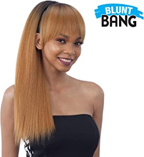 ModelModel Synthetic Hair Ponytail & Blunt Bang Yaky Straight 2Pcs (1B)
