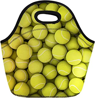 Coloranimal Funny 3D Tennis Puzzle Neoprene Lunch Tote Bag for Kids Parents