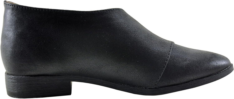 Qupid Tuxedo 68 Women's Asymmetrical Closed Toe Ankle Bootie