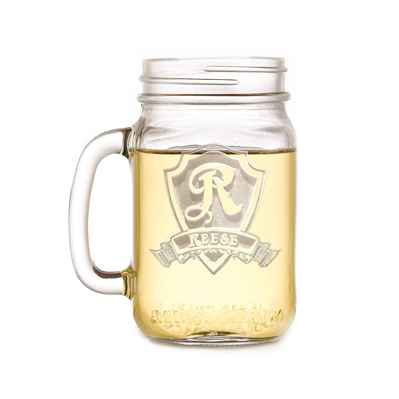 Engraved Max 72% OFF Mason Jar Mugs Personalized Of Set Wedding Inexpensive 4