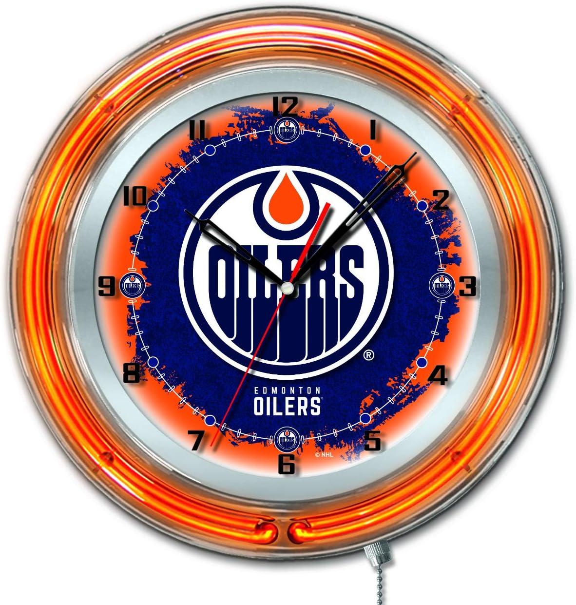 Max 73% OFF Holland Bar Stool Co. Edmonton Oilers overseas Blue Hockey HBS Neon Batte