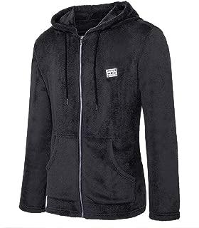 wuliLINL Men's Fashion Long Sleeve Zip Up Faux Shearling Coat Jacket with Pockets Warm Winter