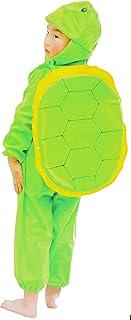 Fun Play Schildkrötenkostüm für Kinder - Kostüm Tier Schlafanzug für Jungen und Mädchen - Kinder Kostüme für 5-7 Jahre 122 cm
