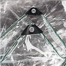 LHR Dekzeil Waterdicht Heavy Duty 100% Waterdicht Transparant Geteerd zeildoek, 0.3mm PVC Plastic Tarps Luifel Cover, Rege...