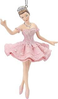 Midwest-CBK Sugar Plum Fairy Pretty Pink 5 x 4 Resin Stone Christmas Hanging Ornament