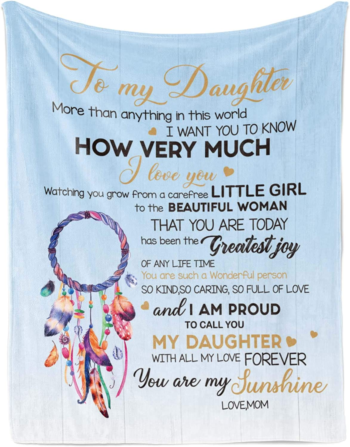Flannel Blanket – Super beauty product restock quality top Gift from Fleece Dedication Daughter Mom to Personalized