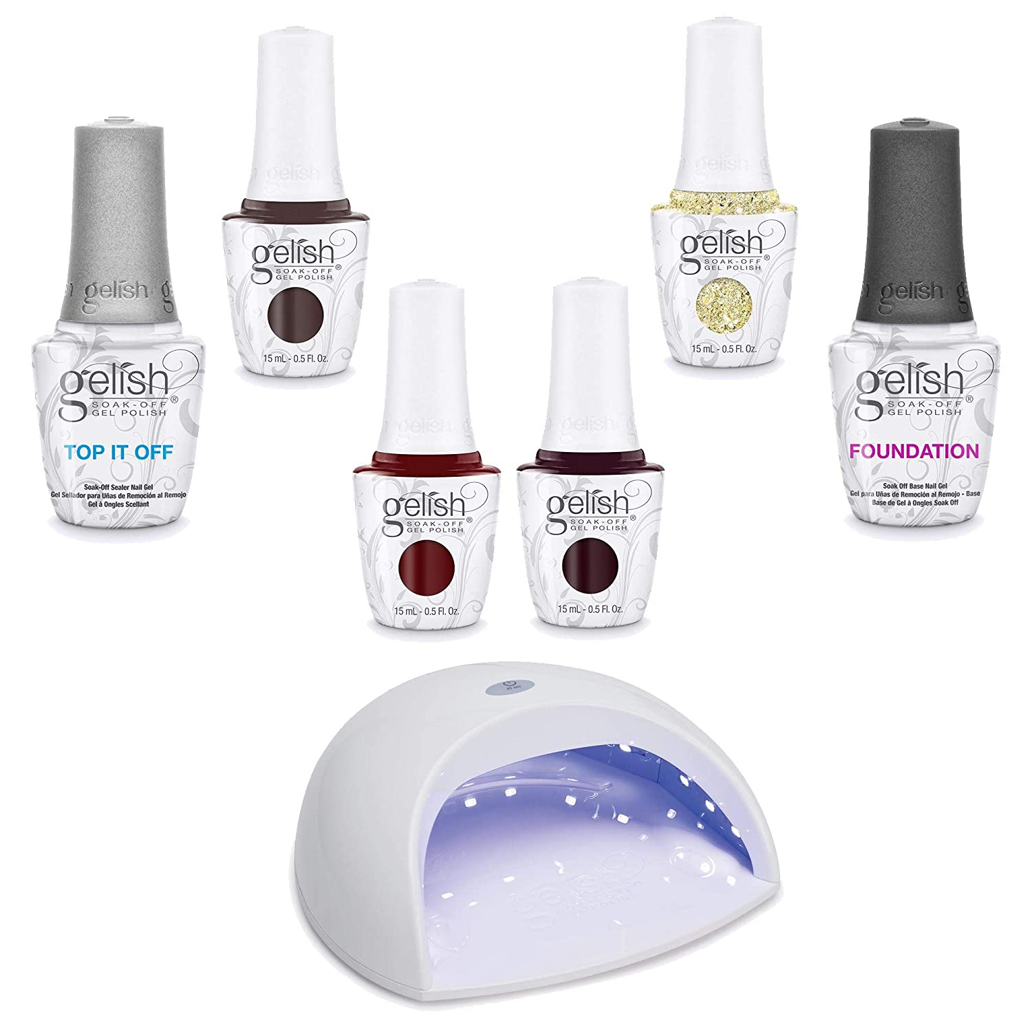 Gelish Soak-Off Gel Polish Starter Kit Sales of SALE items from new works 18W with Lowest price challenge Wint LED - Light