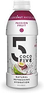 COCO5 Clean Sports Hydration Passion Fruit Flavor | 100% Natural | 50% Less Sugar | Nothing Artificial | Non-GMO | Gluten ...