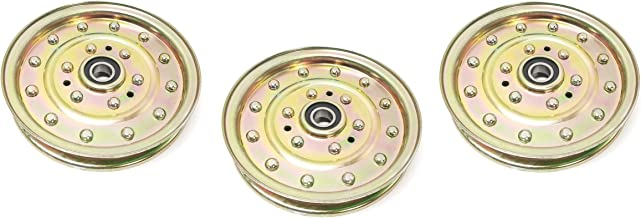 3 Heavy Duty Idler Pulleys - Compatible with: EXMARK: 126-7685, 1-633109, 116-4667, 1164667, 132-9424: Husqvarna: 539102610