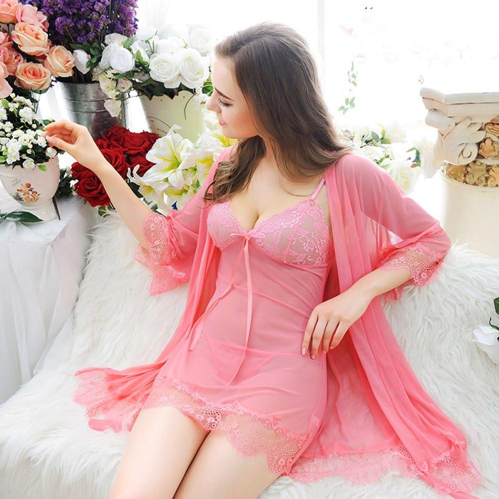 RedSwan Woman Lingerie Sleepwear Chemise Nightgown Lace Lounge Dress Sexy Lingerie