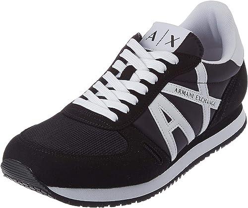 Armani exchange sneakers, scarpe da ginnastica uomo micro suede multicolor XUX017XCC68K489