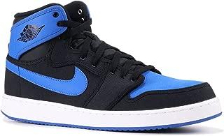 Jordan Mens Air Jordan 1 KO High OG Black/Sport Blue Canvas Basketball-Shoes Size 12