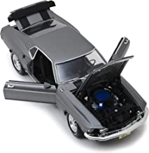 1969 Ford Mustang BOSS 429 Gray with Black Stripes John Wick (2014) Movie 1/18 Diecast Model Car by Highway 61 18016