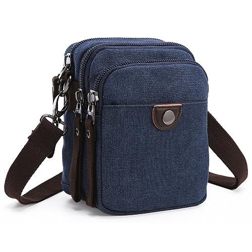 a5cf0e8ed1 Collsants Canvas Cellphone Purse Mini Crossbody Bag Belt Clip Pouch Wallet  Small Travel Shoulder Bag
