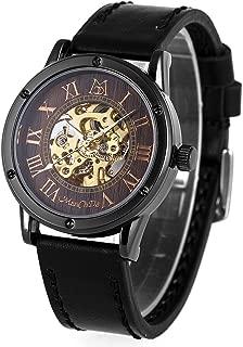 スチーム パンクな ManChDa バーリーウッド ダイヤル ブロンズ スケルトン/発光自動機械式腕時計の腕時計