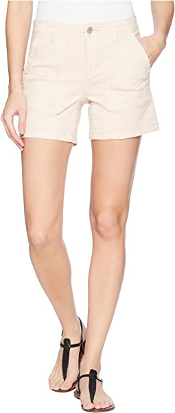 "Tribal Stretch Twill 5"" Shorts with Patch Pocket in Camelia"
