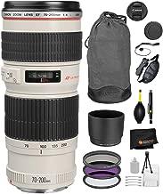 Canon EF 70-200mm f/4L USM Lens with Professional Bundle Package Deal Kit for EOS 7D Mark II, 6D Mark II, 5D Mark IV, 5D S R, 5D S, 5D Mark III, 80D, 70D, 77D, T5, T6, T6s, T7i, SL2
